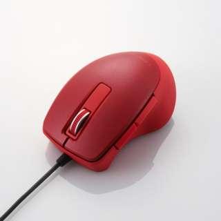 マウス TIPS AIR レッド M-TP20UBSXRD [BlueLED /有線 /5ボタン /USB]