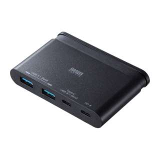 USB3.1 Gen2対応 Type-Cハブ USB-3TCH17BK [USB Power Delivery対応]