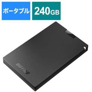 SSD-PG240U3-BA 外付けSSD ポータブル 240GB ブラック [ポータブル型 /240GB]