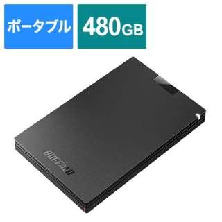 SSD-PG480U3-BA 外付けSSD USB-A接続 (PS5対応) ブラック [480GB /ポータブル型]