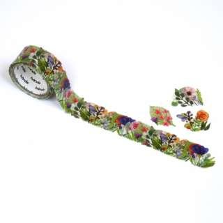 マスキングロールステッカー Flower Wreath BDA402