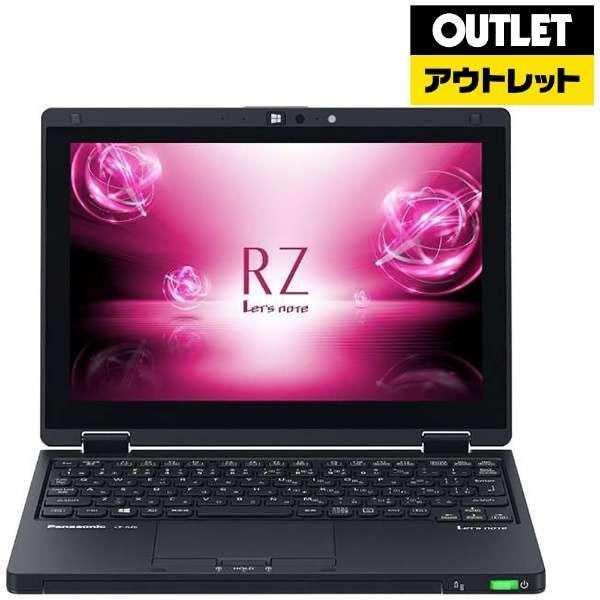 【アウトレット品】 10.1型ノートPC[Win10 Pro・Core i5・SSD 256GB・メモリ 8GB・Office付・SIMフリー] Let'snote  CF-RZ6QFMQR ブラック 【生産完了品】
