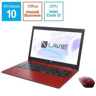 LAVIE Note Standard(NS300/MAシリーズ) ノートパソコン カームレッド PC-NS300MAR [15.6型 /intel Core i3 /HDD:1TB /Optane:16GB /メモリ:4GB /2019年春モデル]