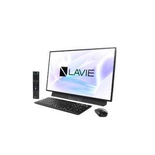 LAVIE Desk All-in-one(DA970/MAB ダブルチューナ搭載) デスクトップパソコンPC-DA970MAB ファインブラック [27型 /HDD:3TB /Optane:16GB /メモリ:8GB /2019年春モデル]
