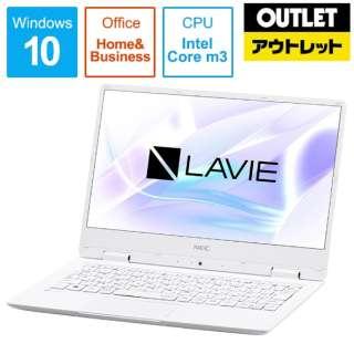 【アウトレット品】 12.5型ノートPC [Office付・Core m3・SSD 128GB・メモリ 4GB] E Note Mobile PC-NM350KAW  パールホワイト 【外装不良品】