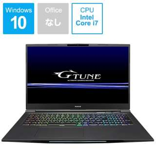 G-TUNE ゲーミングノートパソコン ブラック BC-GN17I87M8S2G16-184 [17.3型 /intel Core i7 /SSD:256GB /メモリ:8GB /2019年1月モデル]