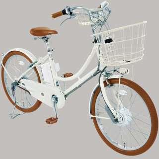 24型 電動アシスト自転車 イルミオ(ホワイト/内装3段変速) IL4B49【2019年モデル】 【組立商品につき返品不可】