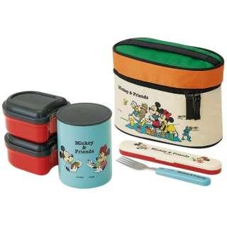 超軽量保温ジャー付ランチBOX560ml Mickey&Friendsピクニック KCLJC6