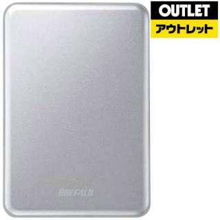 【アウトレット品】 外付けHDD [ポータブル型 /1TB] MiniStation HD-PUSU3-Cシリーズ  HD-PUS1.0U3-SC シルバー 【生産完了品】