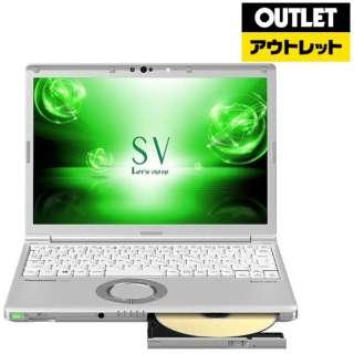 【アウトレット品】 12.1型 ノートパソコン[Win10 Pro・Core i5・SSD 250GB・メモリ 8GB・SIMフリー・Office付] Let's note(レッツノート) SVシリーズ CF-SV7HFGQR シルバー 【生産完了品】