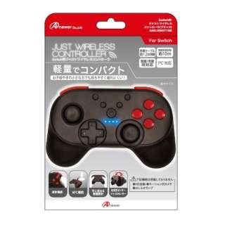 Switch用 ジャスト ワイヤレスコントローラ(ブラック) ANS-SW071BK 【Switch】