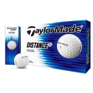 ゴルフボール ディスタンス+ ホワイト ボール《1ダース(12球)/ホワイト 【オウンネーム非対応】