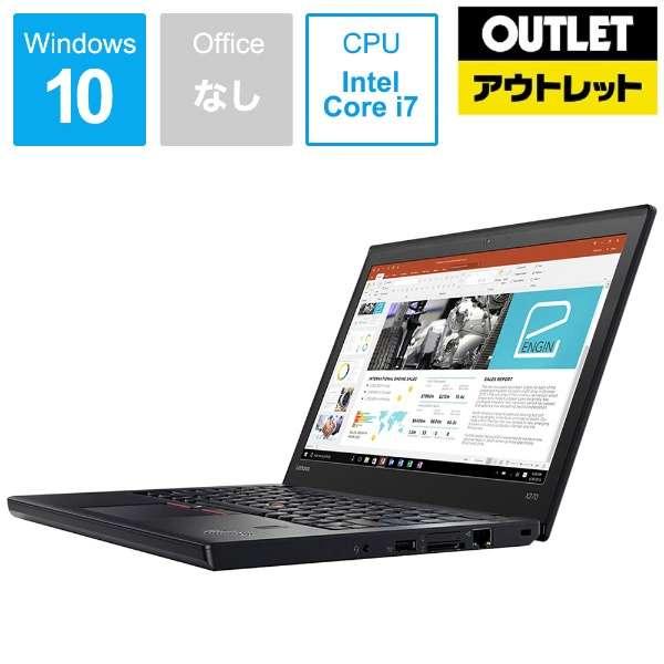 【アウトレット品】 12.5型ノートPC[Core i7・HDD 500GB・メモリ 4GB・Win10 Pro] ThinkPad X270  20HN000TJP 【数量限定品】