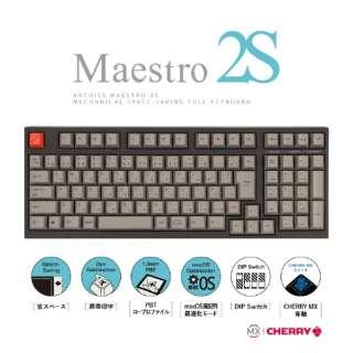 AS-KBM02/CGBA ゲーミングキーボード CHERRY MX 青軸 Mestro2S 黒 [USB /有線]