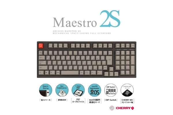 アーキサイト「ARCHISS Maestro2S」AS-KBM02/LSGBA