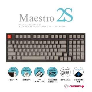 AS-KBM98/CGB ゲーミングキーボード CHERRY MX 青軸 Mestro2S 黒 [USB /有線]