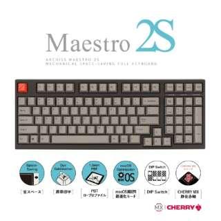 AS-KBM98/SRGB ゲーミングキーボード CHERRY MX 静音赤軸 ARCHISS Maestro2S 黒 [USB /有線]