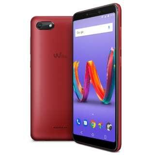 Wiko Tommy3 Plus CHERRY RED「W-V600」5.45型 メモリ/ストレージ:2GB/16GB micro SIM ×2 DSDS対応 ドコモ/au/ソフトバンクSIM対応 SIMフリースマートフォン チェリーレッド