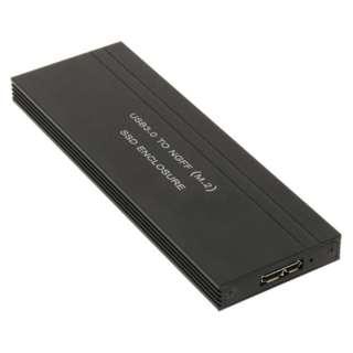 USB3.0接続 UASP対応 M.2 SATA SSDケース HDE-10 ブラック