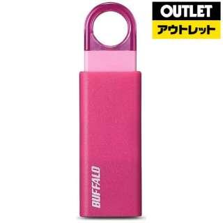 【アウトレット品】 USBメモリ [8GB /USB3.1 /USB TypeA /ノック式] RUF3-KS8GA-PK ピンク 【生産完了品】