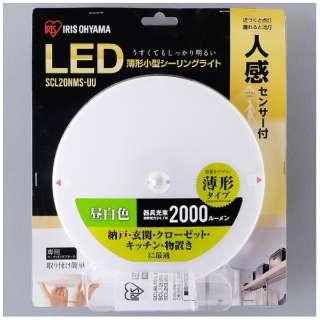 小型シーリングライト 薄型 2000lm 人感センサー付 昼白色 SCL20N-MS-UU [昼白色]