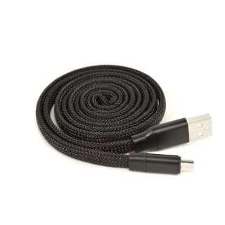 micro USB UZUMAKI USBケーブル 2.4A 1m R10CAAM2A01BK ブラック [1.0m]