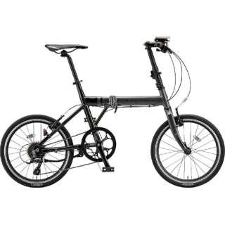 20型 折りたたみ自転車 シルヴァ F8F(マット&グロスブラック/8段変速) YF8F20 6381 【組立商品につき返品不可】