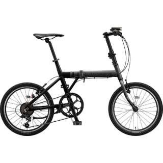 20型 折りたたみ自転車 シルヴァ F6F(マット&グロスブラック/6段変速) YF6F20 6383 【組立商品につき返品不可】