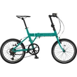 20型 折りたたみ自転車 シルヴァ F6F(E.Xコバルトグリーン/6段変速) YF6F20 6386 【組立商品につき返品不可】