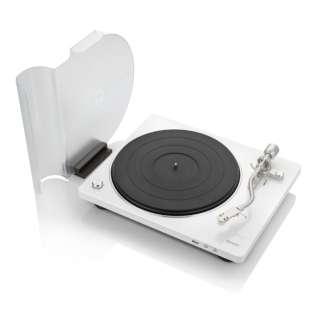 レコードプレーヤー DP-450USBWTEM ホワイト [USBメモリ録音 /フォノイコライザー内蔵]