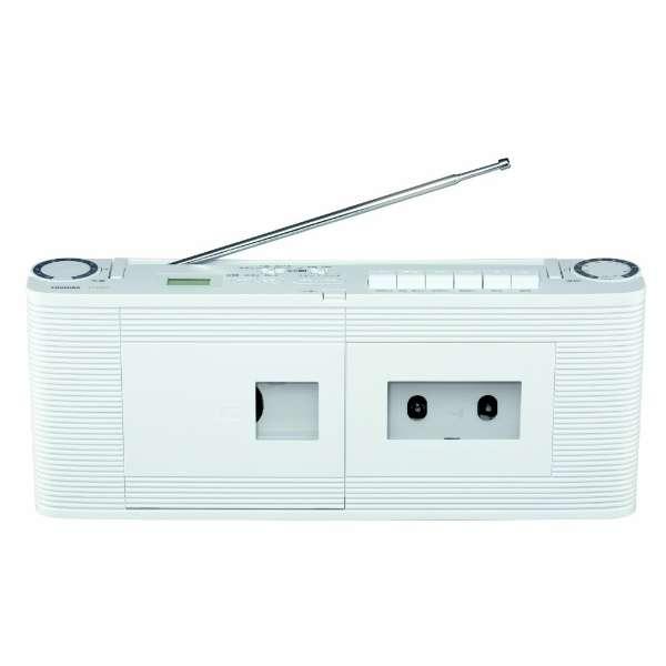 【ワイドFM対応】CDラジカセ(ラジオ・CD・カセットテープ) TY-CDV1(W)