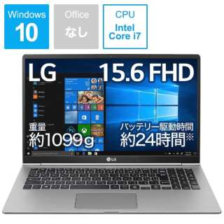 gram ノートパソコン ダークシルバー 15Z990-VA76J [15.6型 /intel Core i7 /SSD:512GB /メモリ:8GB /2019年2月モデル]