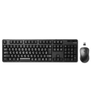 TK-FDM106MBK 無線キーボード・マウス ブラック [USB /ワイヤレス]