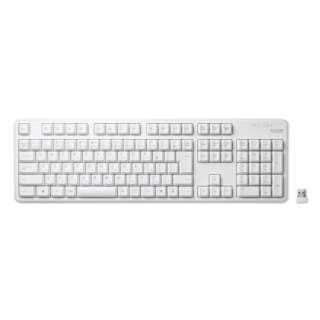 TK-FDM106TXWH キーボード ホワイト [USB /ワイヤレス]