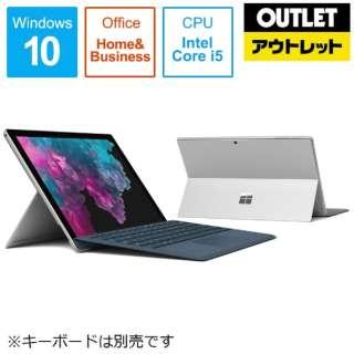 【アウトレット品】 12.3型Windowsタブレット [Win10 Home・Core i5・SSD 256GB・メモリ 8GB・Office] Surface Pro 6(サーフェスプロ6) KJT-00014 シルバー 【外装不良品】