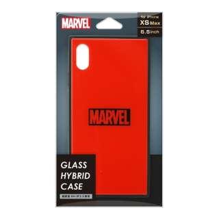 iPhone XS Max用 ガラスハイブリッドケース PG-DCS632RD ロゴ/レッド
