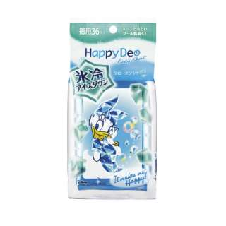 mandom(マンダム)  Happy Deo(ハッピーデオ)  ボディシート アイスダウン フローズンシャボン <徳用>〔デオドラント〕