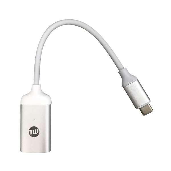 TUNEWEAR USB-C to Mini DisplayPort 変換アダプタ シルバー 18g TUN-OT-000044