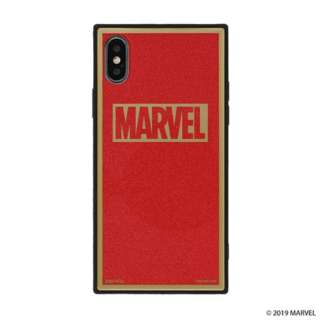 [iPhone XS/X専用]MARVEL/マーベルTILEケース/ロゴ 151-905104 レッド/グリッター