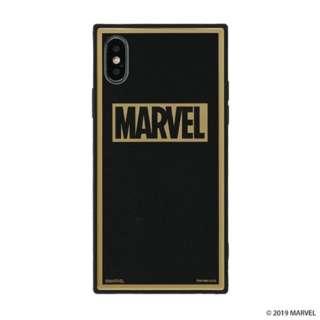[iPhone XS/X専用]MARVEL/マーベルTILEケース/ロゴ 151-905111 ブラック/グリッター