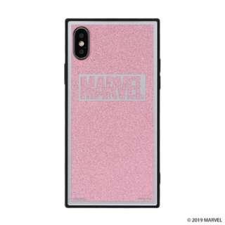 [iPhone XS/X専用]MARVEL/マーベルTILEケース/ロゴ 151-905128 ピンク/グリッター