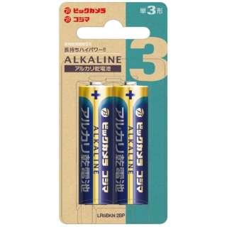【単三形】2本 アルカリ乾電池 LR6BKN 2BP