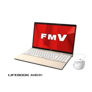 LIFEBOOK AH45/D1 ノートパソコン シャンパンゴールド FMVA45D1G [15.6型 /intel Core i3 /HDD:1TB /メモリ:4GB /2019年2月モデル]