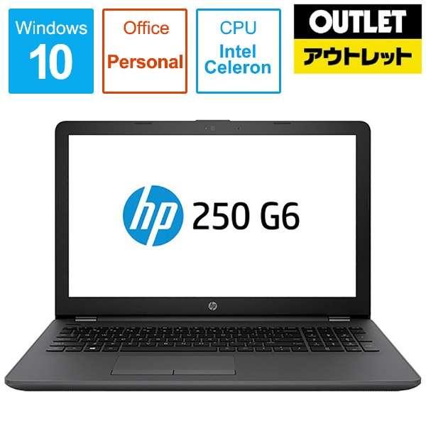 【アウトレット品】 15.6型ノートPC [Office・Win10 Home・Celeron・HDD 500GB・メモリ4GB]  HP 250 G6 4PA35PA-AAFE 【数量限定品】