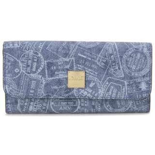 ALV エーエルブイ 長財布 WB5021-41-507 パスポートライン ブルー イタリア製 MADE IN ITALY