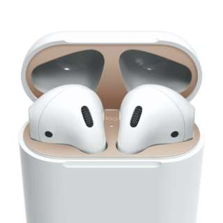 elago AirPods DUST GUARD for AirPods (Matte Rose Gold) EL_APDDGBSDG_MR