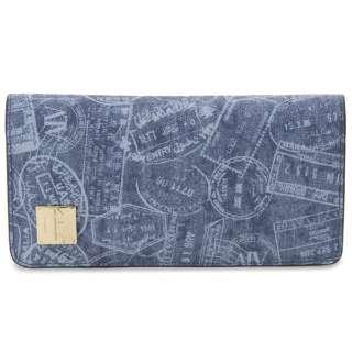 ALV エーエルブイ 長財布 WB5022-41-507 パスポートライン ブルー イタリア製 MADE IN ITALY