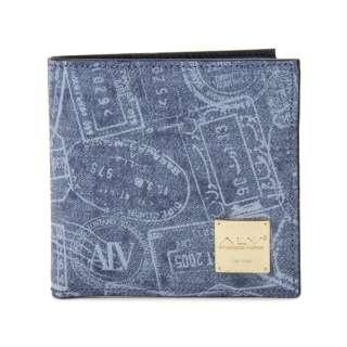 ALV エーエルブイ 二つ折り財布 WB5023-41-507 パスポートライン ブルー イタリア製 MADE IN ITALY