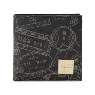 ALV エーエルブイ 二つ折り財布 WB5023-41-902 パスポートライン ブラック イタリア製 MADE IN ITALY