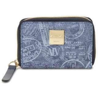 ALV エーエルブイ コインケース 小銭入れ WB5024-41-507 パスポートライン ブルー イタリア製 MADE IN ITALY